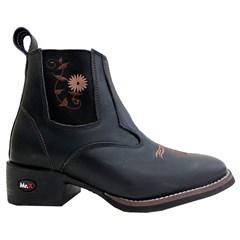 Botina Mr. West Boots Fossil Oil Preto 89316