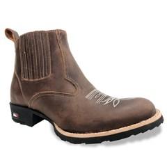 Botina Mr. West Boots Fossil Tab 85971