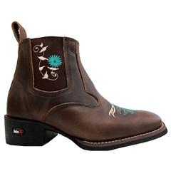 Botina Mr. West Boots Fossil Tab/Turquesa 89315