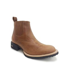 Botina Mr. West Boots Pull Up Amêndoa 69190