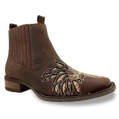 Botina Vimar Boots Dls Castor/ Craquele Dourado 12165