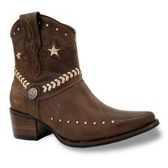 Botina Vimar Boots Fossil Castanho 11215