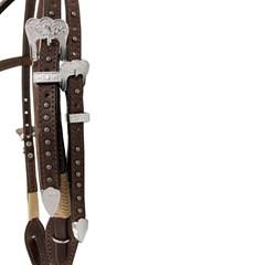 Cabeçada Montana Ranch Testeira Nó com Rebites MR-6004-COR 01