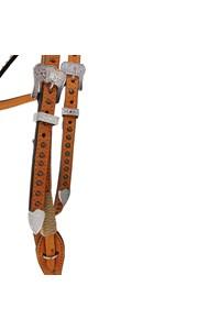 Cabeçada Montana Ranch Testeira Nó com Rebites MR-6004-COR 07