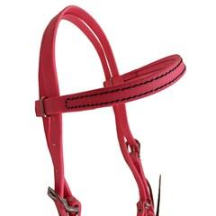 Cabeçada Testeira Top Equine c/ Afogador Borracha Pink Neon 13469