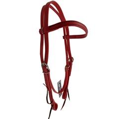 Cabeçada Testeira Top Equine c/ Afogador Borracha Vermelho 13469