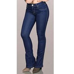Calça Bill Way Flare Feminina Jeans Escuro 0800