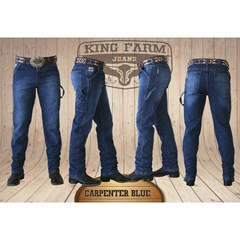 Calça King Farm Blue Carpinteira/ Utility Fit KF-Blue Carp
