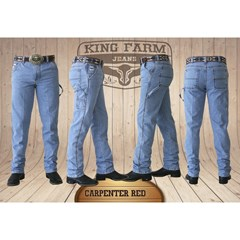Calça King Farm Red Carpinteira/ Utility Fit KF-Red Carp