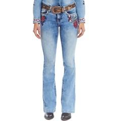 Calça Tassa Jeans Bordado Boot Cut 4391