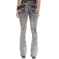 Calça Tassa Jeans Preto Estonado Boot Cut 4409.1