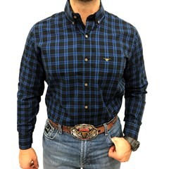 Camisa All Hunter Xadrez Azul/ Preto 318