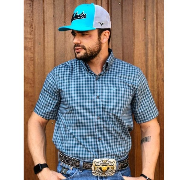 Camisa All Hunter Xadrez Azul / Preto 823