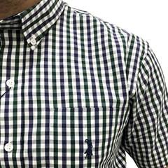 Camisa Austin Western Xadrez Azul/Verde/Branco AT-CM03