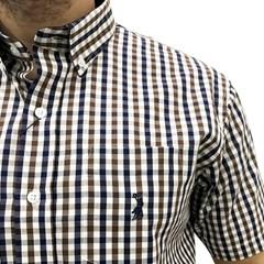 Camisa Austin Western Xadrez Branco/Marrom/Azul AT-CM06