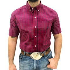 Camisa Austin Western Xadrez Vermelho/Azul Marinho AT-CM05