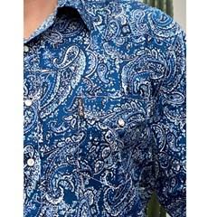 Camisa Cinch Importada Estampado MTW1303037-BLU
