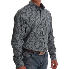 Camisa Cinch Importada Floral MTW1105036-GRY