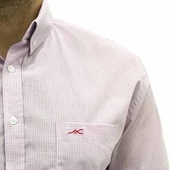 Camisa Jacomo Xadrez Lilas/Branco CM-13