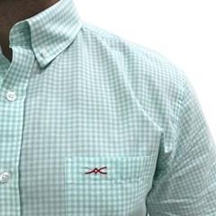 Camisa Jacomo Xadrez Verde Claro/Branco CM-02