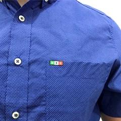 Camisa Mexican Shirts Estampado Azul 0060-04-MXS