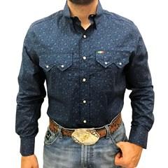 Camisa Mexican Shirts Floral Azul 0062-09-MXS