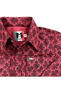 Camisa Mexican Shirts Infantil Floral Bordô/Preto 0064-01-MXS