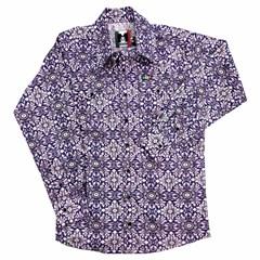 Camisa Mexican Shirts Infantil Floral Rosa/Roxo 0064-02-MXS