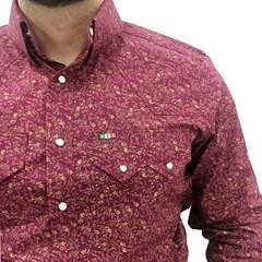 Camisa Mexican Shirts Vinho Floral 0062-03-MXS