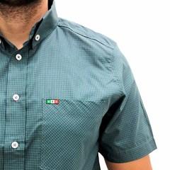 Camisa Mexican Shirts Xadrez Azul/ Verde 0060-16-MXS