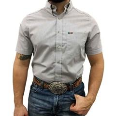 Camisa Mexican Shirts Xadrez Branco/Azul Marinho/Marrom 0060-MXS