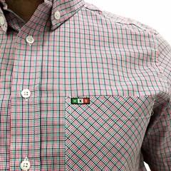 Camisa Mexican Shirts Xadrez Rosa/ Laranja/ Verde Água 0060-19-MXS