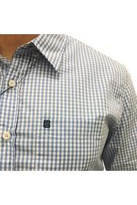 Camisa Never Give Up Xadrez Azul/Branco NGU-CAMISA02