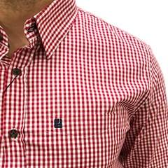 Camisa Never Give Up Xadrez Vermelho/Branco NGU-CAMISA03