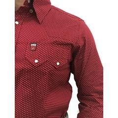 Camisa Os Vaqueiros Bordo/Poá 7016
