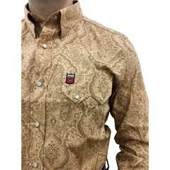 Camisa Os Vaqueiros Caramelo/Floral 7016
