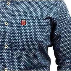 ... Camisa Os Vaqueiros Floral Tons de Azul e Branco 7003 3cb2e8e98a0