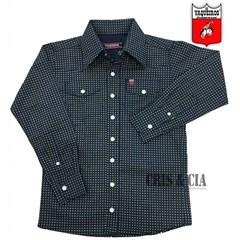 Camisa Os Vaqueiros Infantil Azul Marinho Floral 7015 ... 9f9f237973f