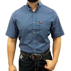 Camisa Os Vaqueiros Manga Curta Floral 7001 ... e03aa3d1198