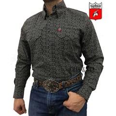 Camisa Os Vaqueiros Preta/Floral 7016