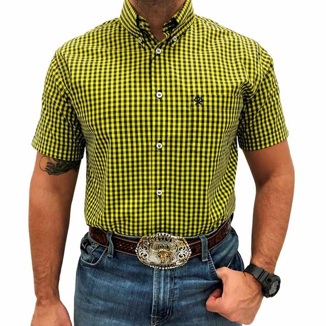 Camisa Ox Horns Xadrez Amarelo/ Preto 9109