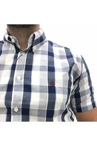 Camisa Ox Horns Xadrez Azul Marinho/ Cinza/ Branco 9103