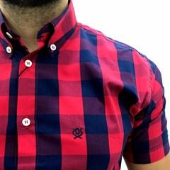 Camisa Ox Horns Xadrez Azul Marinho/ Vermelho 9099