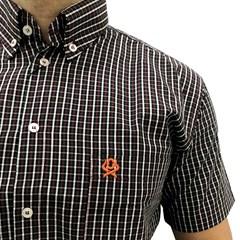 Camisa Ox Horns Xadrez Bordô/Preto/Branco 9051