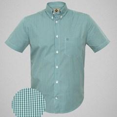 Camisa Ox Horns Xadrez Verde/ Verde Àgua/ Branco 9116