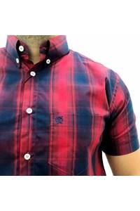 Camisa Ox Horns Xadrez Vermelho/ Azul Marinho 9110