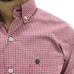 Camisa Ox Horns Xadrez Vermelho/Branco/Azul Marinho 9049