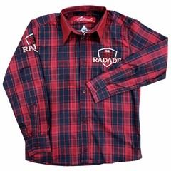 Camisa Radade Infantil Xadrez/Bordado M L X B I