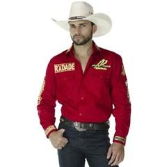 Camisa Radade Masculina Vermelho Bordado MLBD GREEN