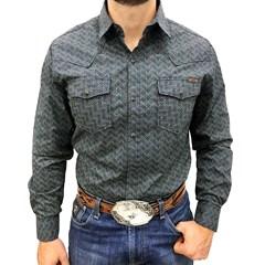 Camisa Tassa Estampado Azul e Bege 3976.1